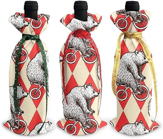 Polar Bear - Bolsa de transporte de vino para bicicleta (3 ...