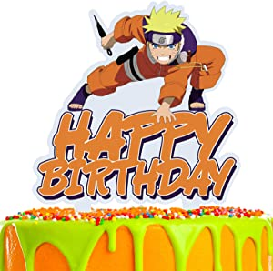 Ninja Cartoon Cake Topper Happy Birthday Fight Game Heroes Video Game Theme Decor for Baby Shower Birthday Party Decorations Supplies Acrylic