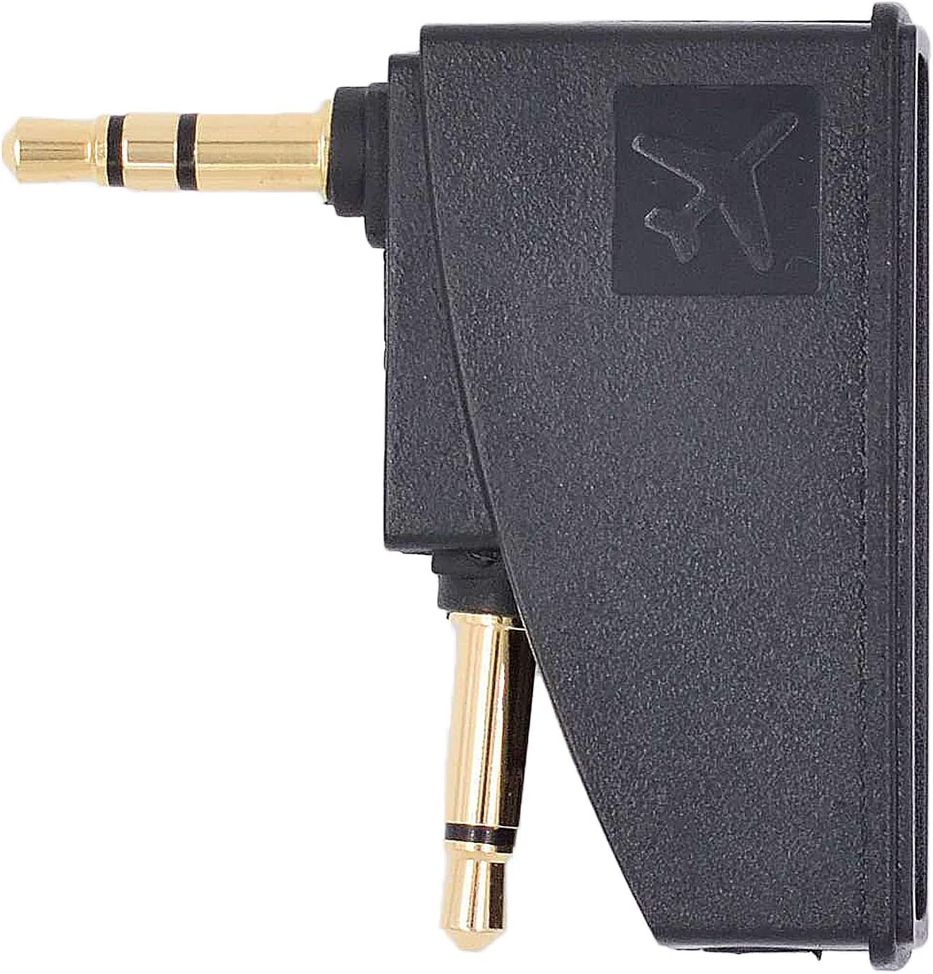 Valefod Airplane Headphone Adapter for Bose QuietComfort 2 QC3 QC15 QC25 QC35 SoundLink AE2 AE2W and More Headphones Golden Plated 3.5mm Jack