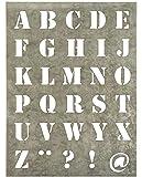 Plade m/bogstaver zink lille