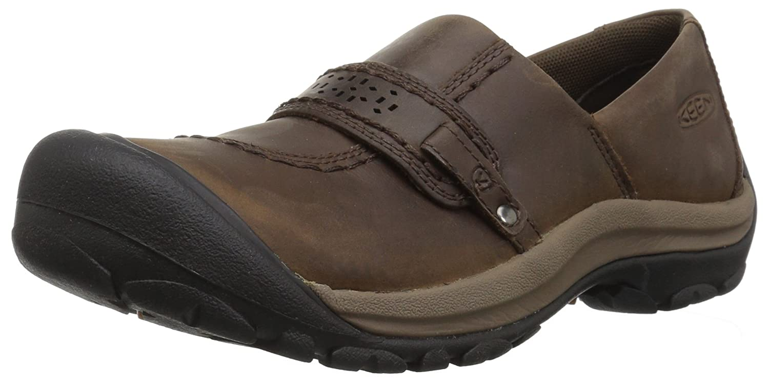 KEEN Women's Kaci Full-Grain Slip On Shoe B00LVTOA2S 6 B(M) US|Cascade Brown