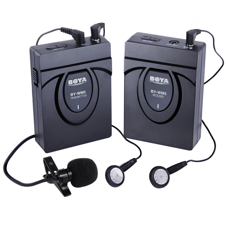 BOYA BY-WM5 2.4GHZ Kabelloses Lavalier Mikrofon Kabellos Ansteckmikrofon für Canon 650D 700D 7D 5D2 5D3 Nikon D800 D700 D600 Sony A9 Panasonic DSLR kameras,DV,Camcord BY--WM05