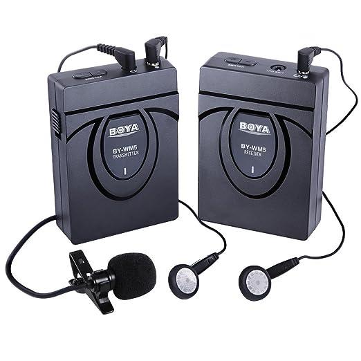 14 opinioni per BOYA BY-WM24G Microfono compatto fotografica Video Wireless, 2,4 GHz, con