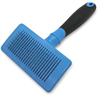 Pet Craft Supply Self Cleaning Slicker Pet Grooming Brush for Dogs & Cats (Blue)