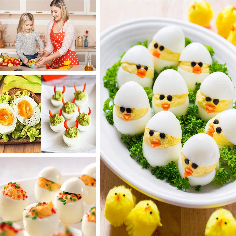 Kochgeschirr AUXSOUL 12 St/ücke Eier Kochen Silikon Eierkocher Tassen Silikon Egg Poacher Molds Eier Pochierer Eier Dampfgarer f/ür Eierpfanne