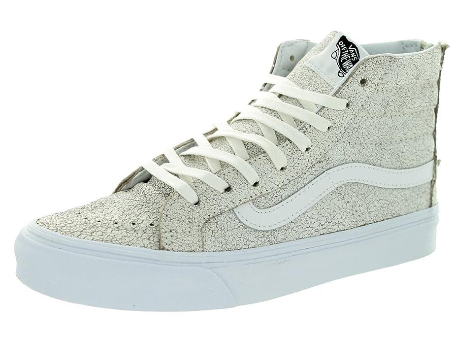 Unisex Sk8-Hi Slim Zip (Crackle Suede) White Skate Shoe 4 Men US / 5.5 Women US