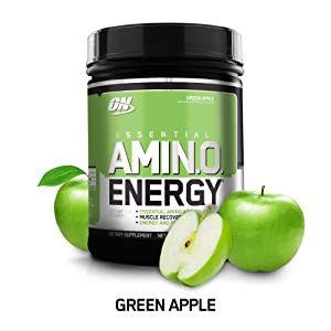 Optimum Nutrition Amino Energy with Green Tea and Green Coffee Extract, Flavor: Green Apple, 65 Servings, 20.64 Ounce (Pack of 1)