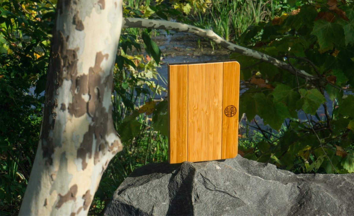 Amazon.com: Reveal Nara Bamboo Folio Case for iPad Mini 1 / 2 / 3 - Natural Bamboo Wood Exterior: Computers & Accessories