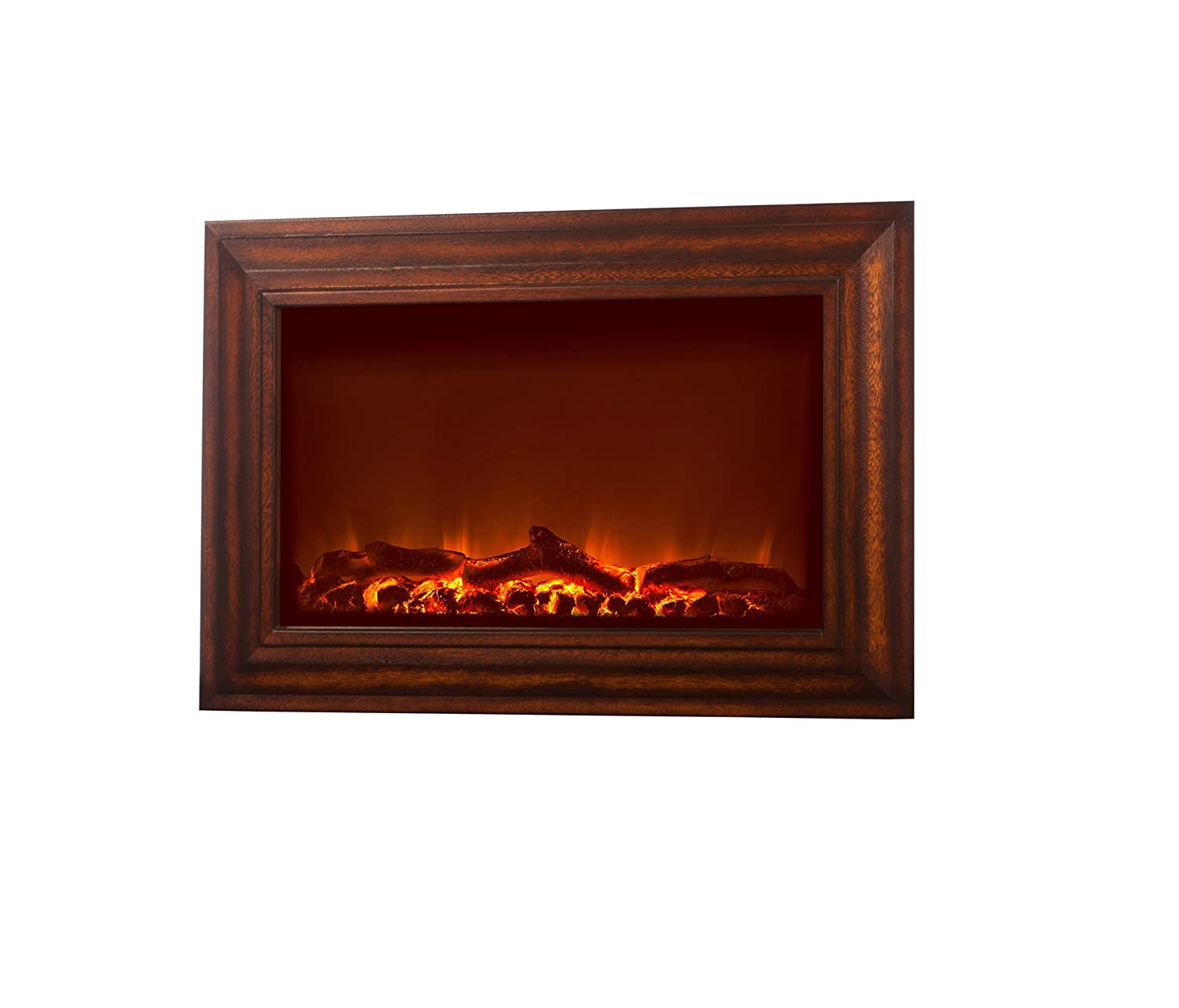 amazon com fire sense wood wall mounted electric fireplace