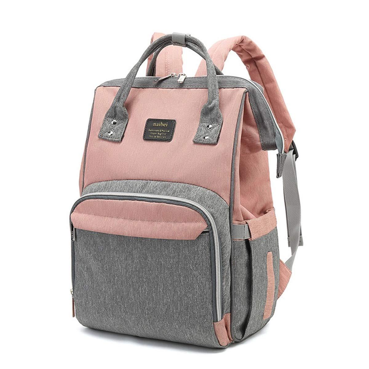 elegante y duradera Abby Girls La bolsa de pa/ñales multifuncional Mochila de viaje impermeable Bolsas de pa/ñales para el cuidado del beb/é de gran capacidad