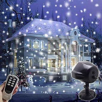 Weihnachtsbeleuchtung Aussen Schneefall.Led Projektionslampe Weihnachtsbeleuchtung Projektor Außen Innen