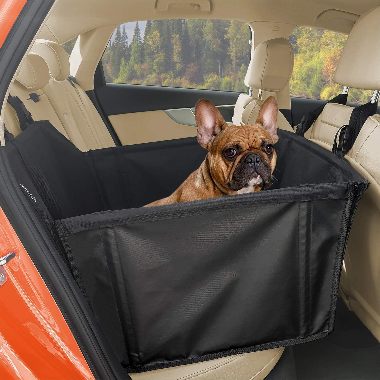 Wuglo Extra Stabiler Hunde Autositz Verstärkter Autositz Für Kleine Und Mittlere Hunde Mit 4 Befestigungsgurten Hochwertiger Und Wasserdichter Hundeautositz Für Den Rücksitz Im Autos Haustier