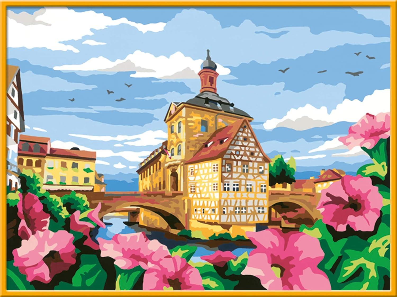 Ravensburger Malen nach Zahlen 10 - Historisches Bamberg - Perfektes  Malergebnis durch hochwertiges Künstlerzubehör, ohne Rahmen
