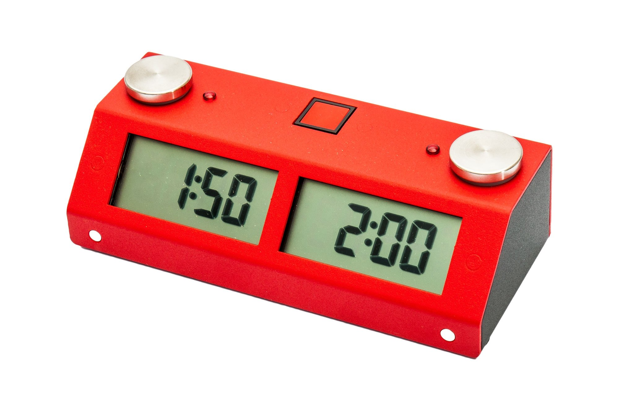 US Chess Federation Chronos GX Digital Game Chess Clock - TOUCH - Red