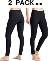 ALONG FIT Yoga Pants for Women mesh Leggings with Side Pockets High Waisted Leggings