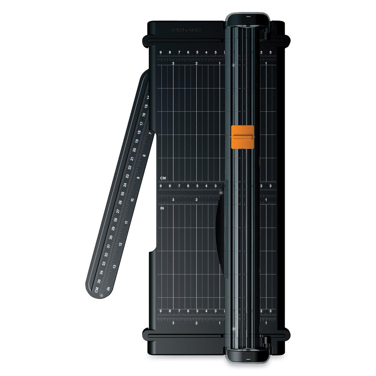 Fiskars SureCut Portable Trimmer with Recycled Cutline, 12 Inch Cut, Black by Fiskars