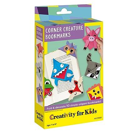 Creativity For Kids Corner Creature Fold Decorate 10 Simple Origami Bookmarks