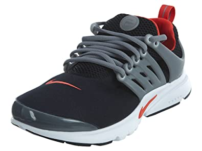 c8cfca0c46d9 Nike Presto (GS) Big Kids Running Shoes Black Max Orange Cool Grey