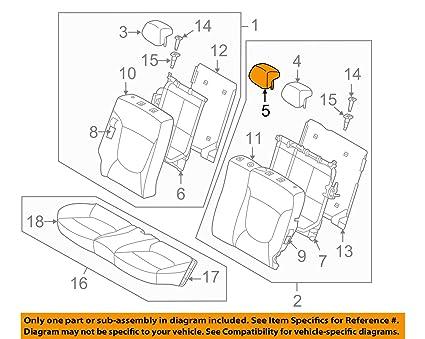 71TjNbV5KcL._SX425_ amazon com hyundai oem 15 17 accent rear seat headrest, center
