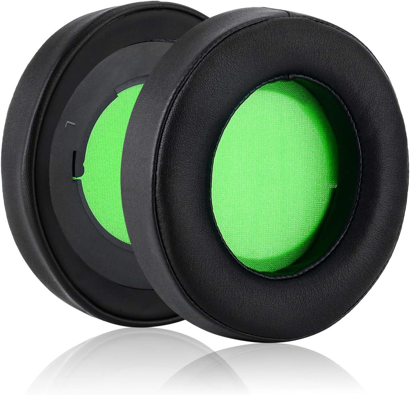 JECOBB Replacement Ear Cushion Cover with Protein Leather /& Memory Foam for Razer Kraken V2 PRO Headphone ONLY Black/&Green Kraken V2 PRO Earpads Oval