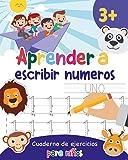 Aprender a escribir números: Aprender a escribir los numeros para niños - Libro infantiles para la escuela primaria - Juego educativo matemàticas - Cuentos infantiles (Spanish Edition)