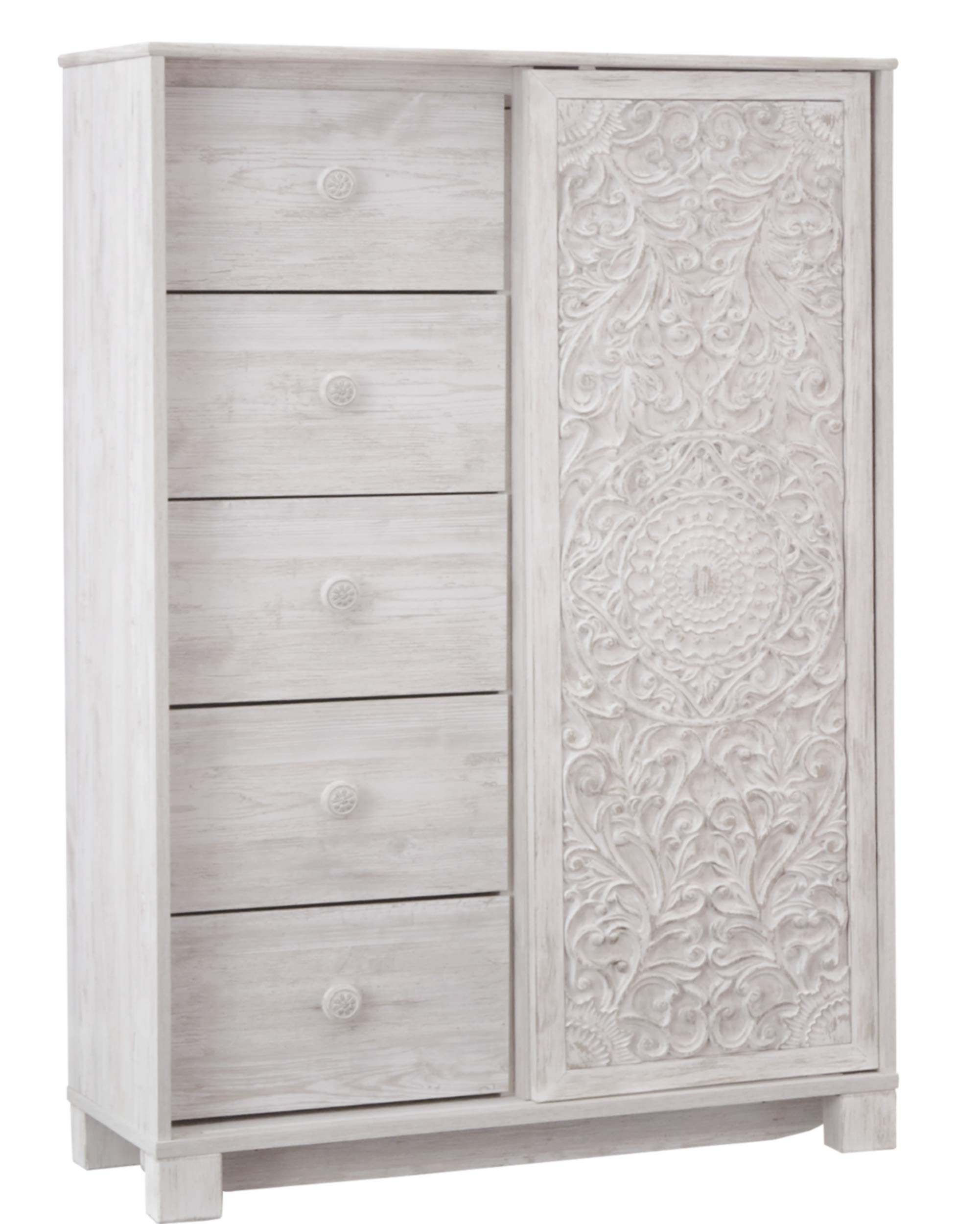 Signature Design by Ashley B181-48 Paxberry Dressing Chest White Wash by Signature Design by Ashley