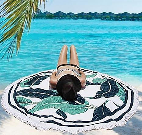 Toallas de playa redondas impresas microfibra grande del verano con la servilleta de la toalla de