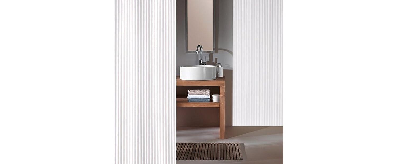 Ringe Raumteiler Textil Duschvorhang schwarz weiss Zebra 120 x 200 cm incl