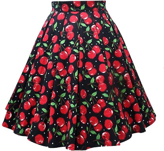 Faldas Mujer Verano Retro Cremallera Impresa Falda 2019 Moda Falda ...
