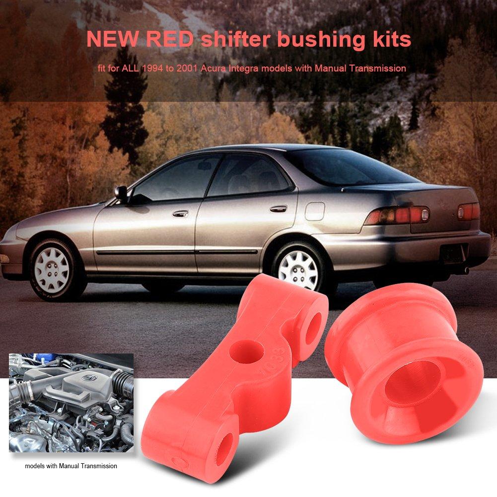 Qiilu 2Pcs Red Polyurethane Car Auto Shifter Bushing Kit For Honda ...