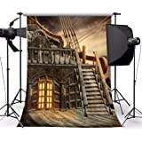 Mohoo 7x5ft Silk Photography Background Pirate Ship Photo Backdrop Studio Props (Update Material )