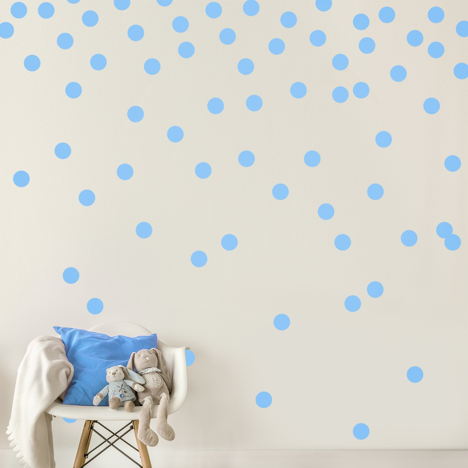 Baby Safe Wall Mirrors 2 Silver Wall Decal Dots (200 Decals) | Easy Peel u0026 Stick + Safe on Walls  Paint | Removable Metallic Vinyl Polka Dot Decor | Round Circle Art Glitter  Sayings ...