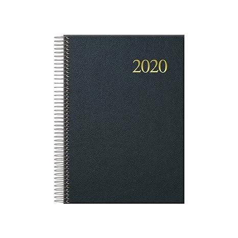 Agenda 2020 espiral D/P negro 14x20cm