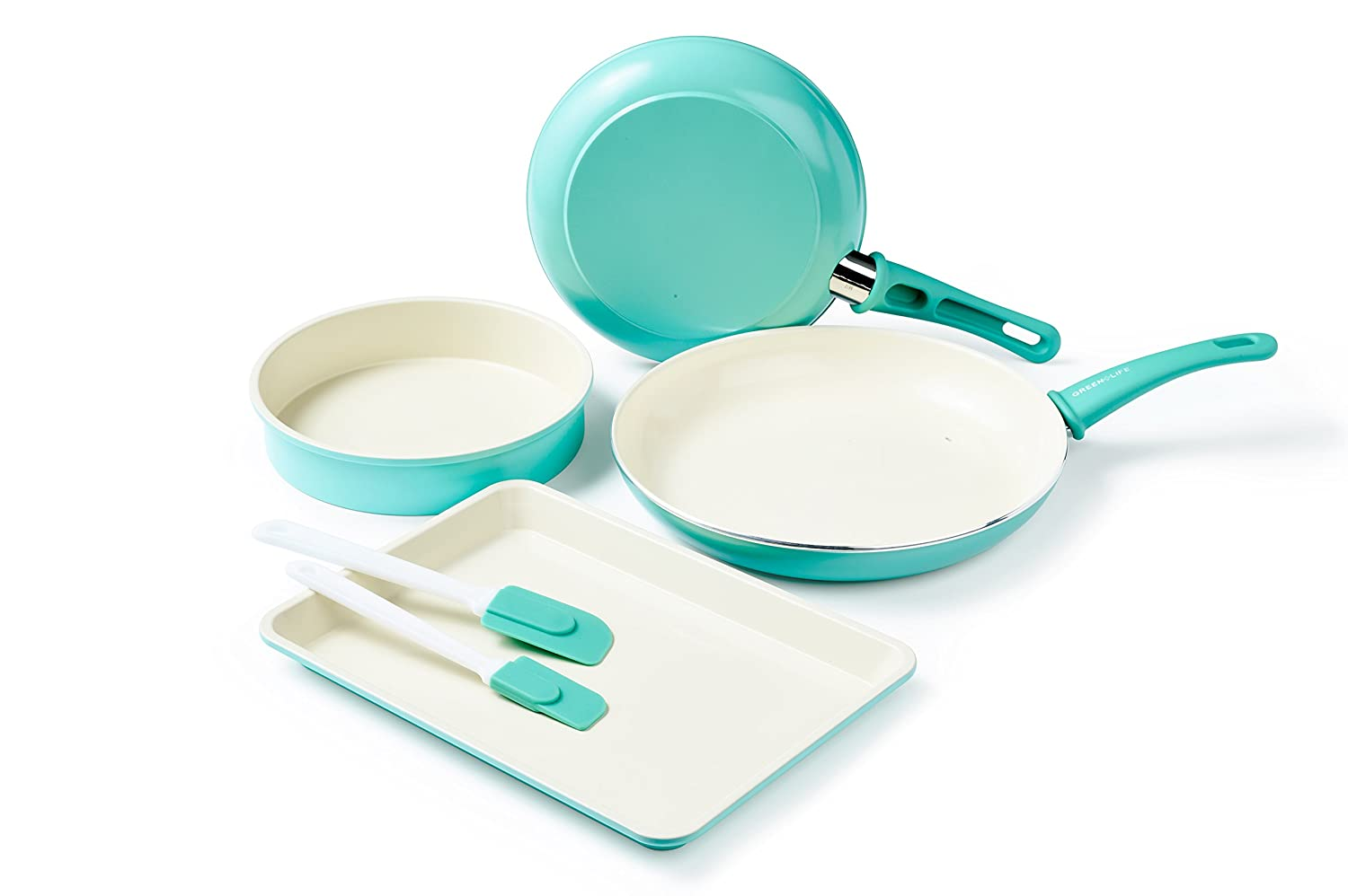 GreenLife Large Non-Stick Ceramic Cookie Sheet, Turquoise GreenPan BW000055-002