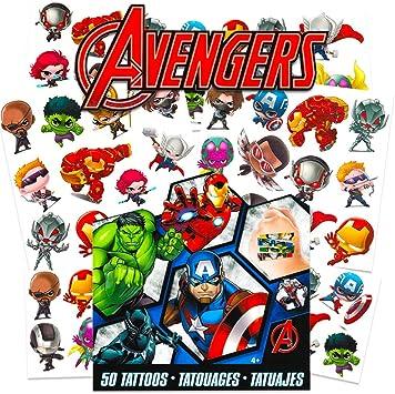 Amazon.com: Marvel Avengers Temporary Tattoos for Kids ...