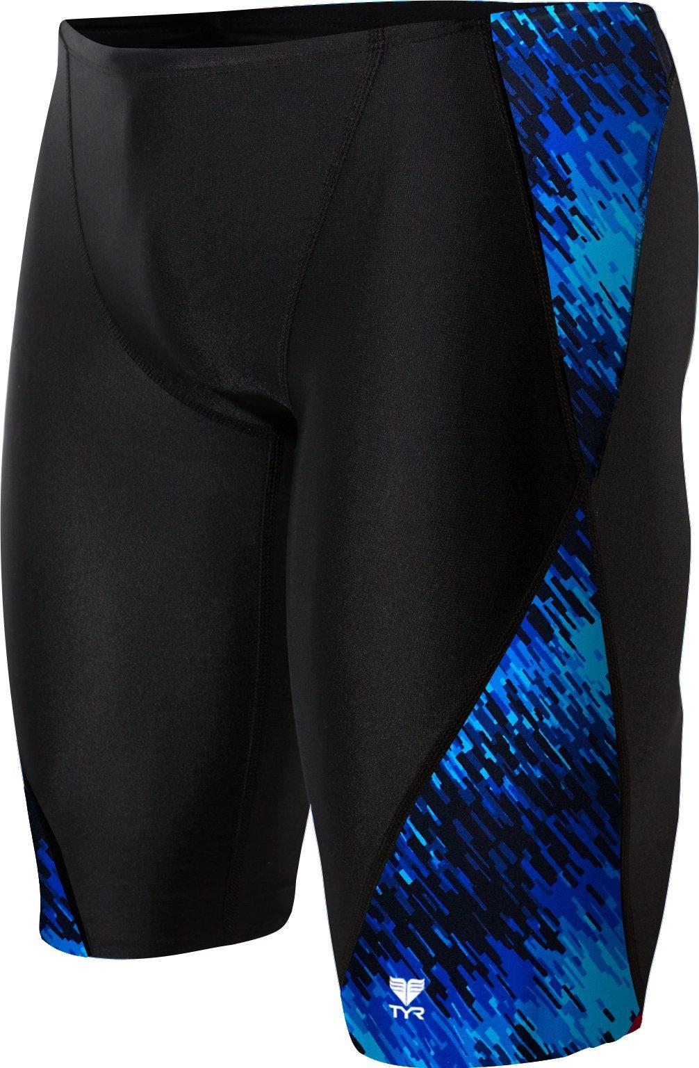 TYR Men's Perseus Jammer Swimsuit, Blue, 30
