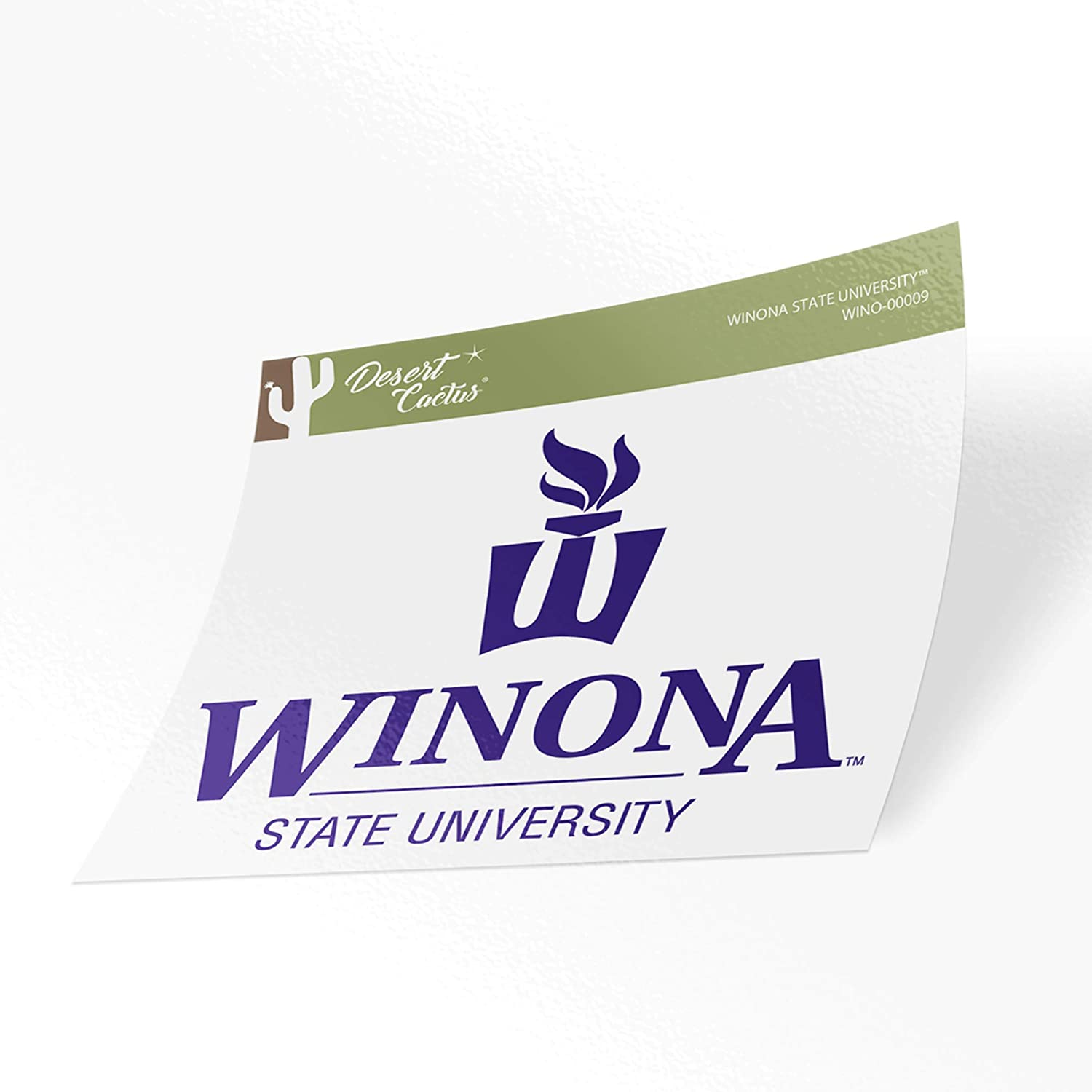 Winona State University Warriors NCAA Vinyl Decal Laptop Water Bottle Car Scrapbook Sticker - 00009