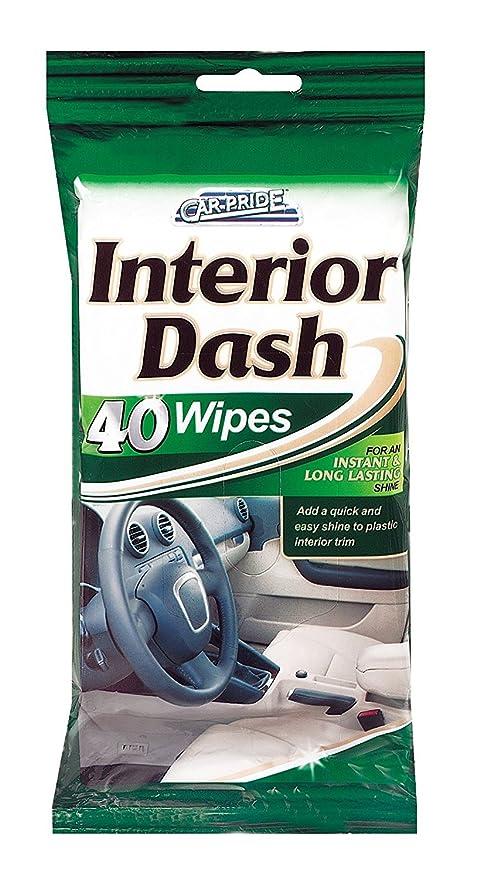Car Pride Interior Toallitas Clean & Shine – 40 toallitas (20 Unidades) – Padres