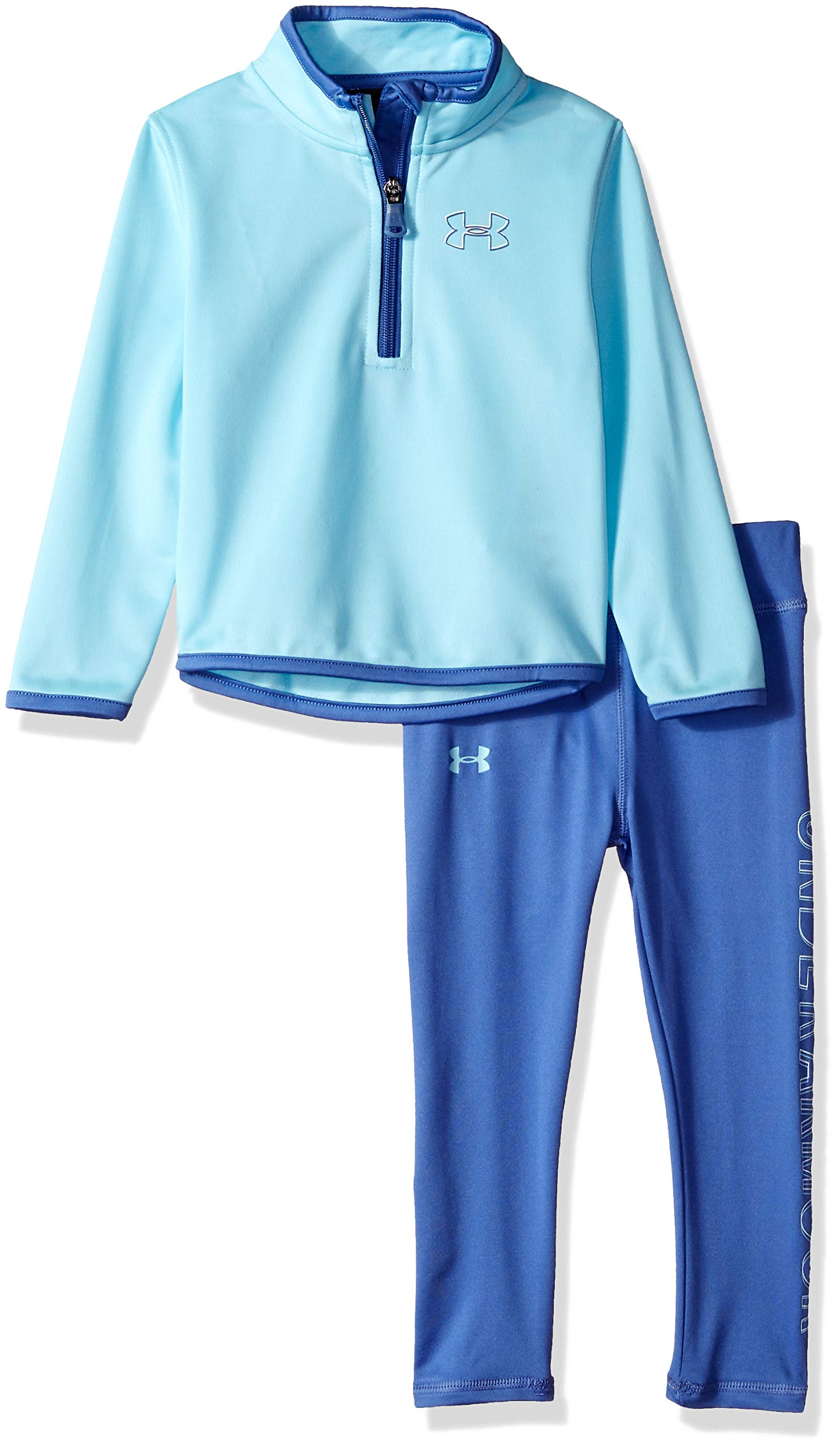 Under Armour Girls' Toddler Track Jacket and Pant Set, Venetian Blue Teamster, 2T by Under Armour