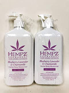 product image for LOT of 2 Hempz BLUEBERRY LAVENDER & CHAMOMILE Herbal Body Moisturizer, 17 oz