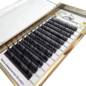 36d985e8280 Amazon.com : Faux Mink Eyelash Extensions 0.03mm Thickness D Curl 8mm Silk  Individual Lash Extensions for Professional Salon Use : Beauty