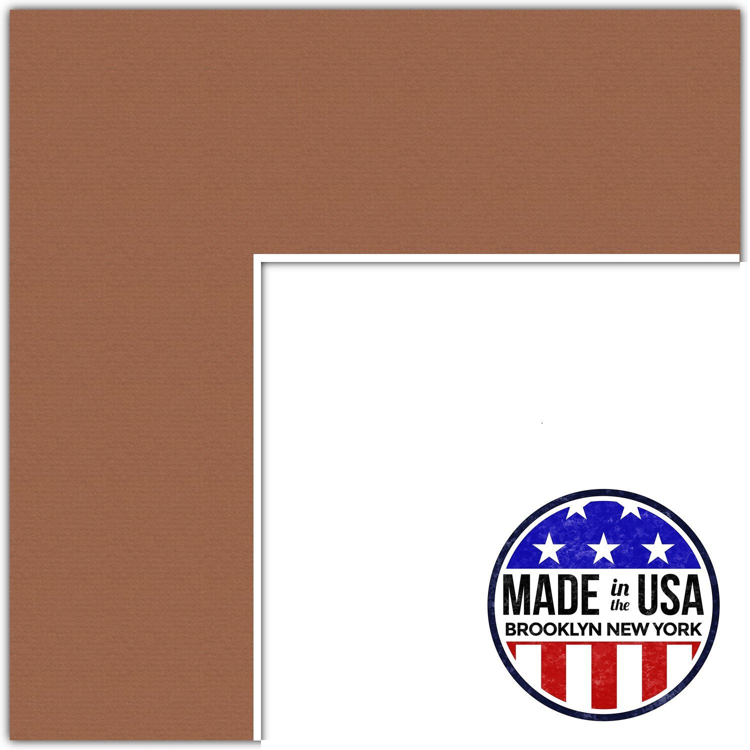 8x8 Autumn / Paloma Custom Mat for Picture Frame with 4x4 opening size (Mat Only, Frame NOT Included) ArtToFrames MAT-131-8x8-Paloma