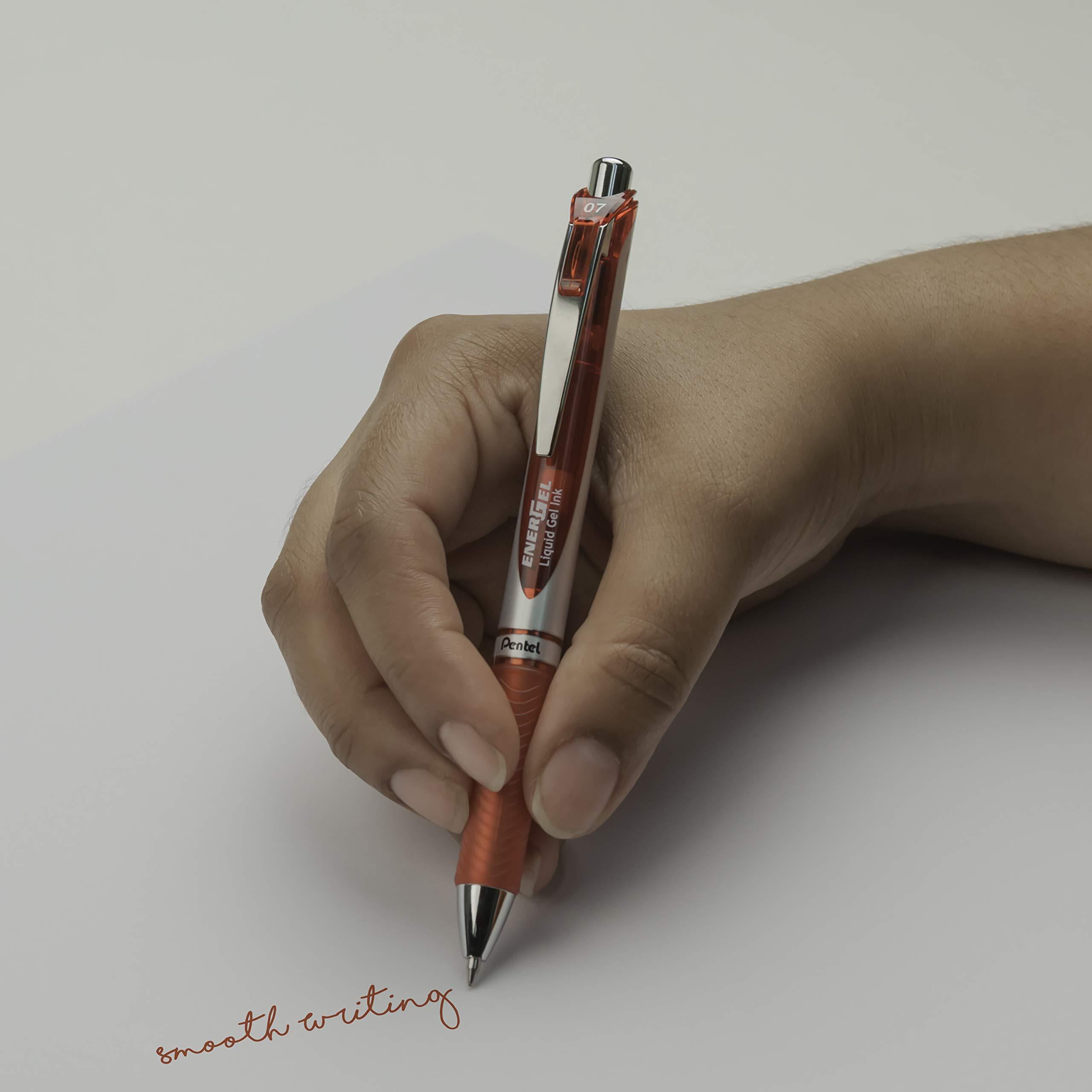 Pentel EnerGel RTX Retractable Liquid Gel Pen Canister, Red Ink, 36pk (BL77PC36B) by Pentel (Image #8)