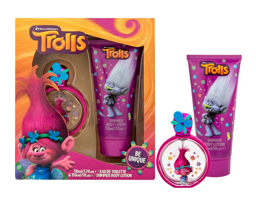 Trolls Girls 2-Part Set: 50ml Eau de Toilette & 150ml Shimmer Body Lotion - fuchsia Corsair Corsair Toiletries Ltd TR3486