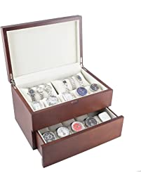 Lovely For 6 Watches Housing Box Showcase Display Jewel Case Case Black Boxes, Cases & Watch Winders