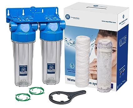 """Caja de filtro doble de 10 """"en línea Reducción de la escala de agua"""