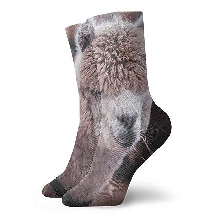 Mens Athletic Cushion Crew Sock Llamas I Love You Long Sock Comfort