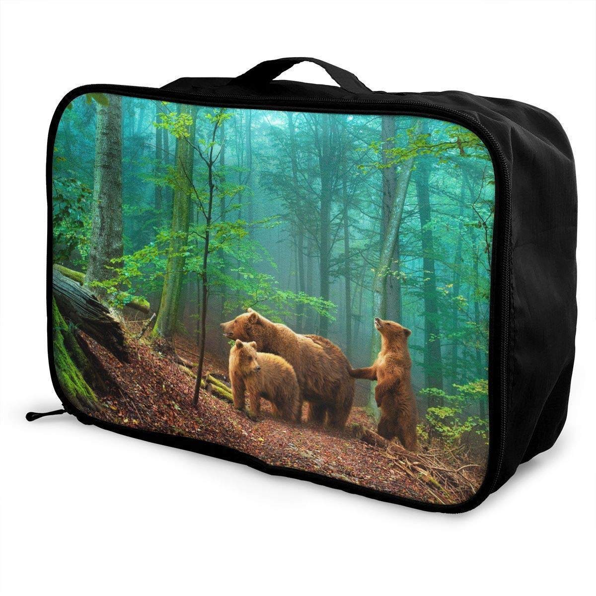 Lightweight Large Capacity Portable Duffel Bag for Men /& Women Forest Bears Travel Duffel Bag Backpack JTRVW Luggage Bags for Travel