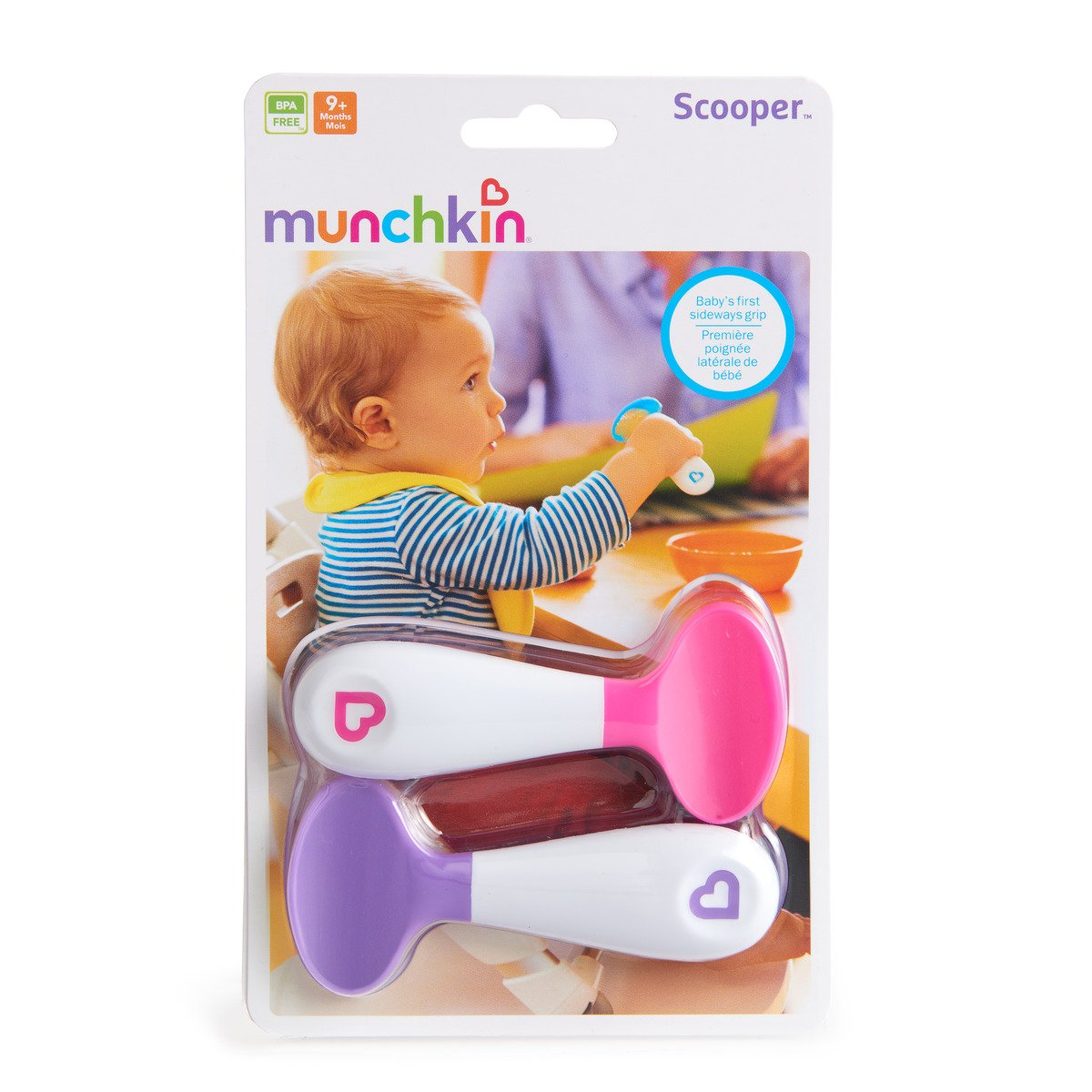Assorted Colours Munchkin Infant Scooper Spoons