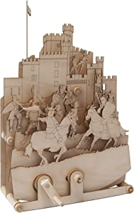 TIMBERKITS Medieval Mahem Self-Assembly Wooden Construction Moving Model Kit